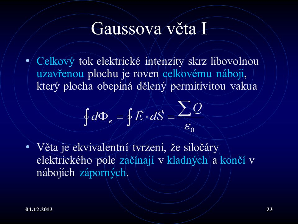 Gaussova věta I