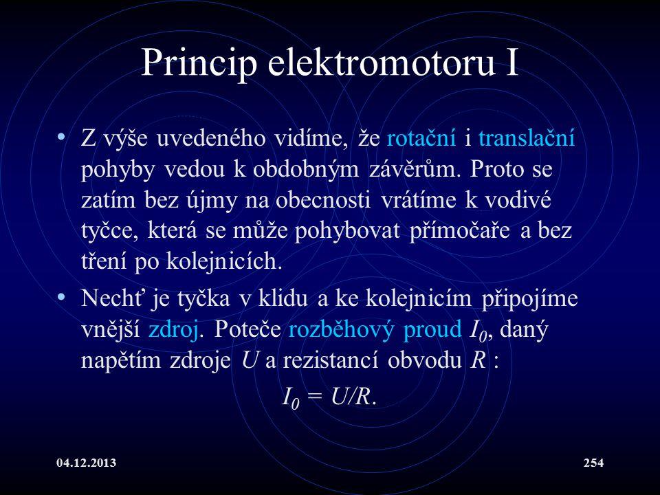 Princip elektromotoru I