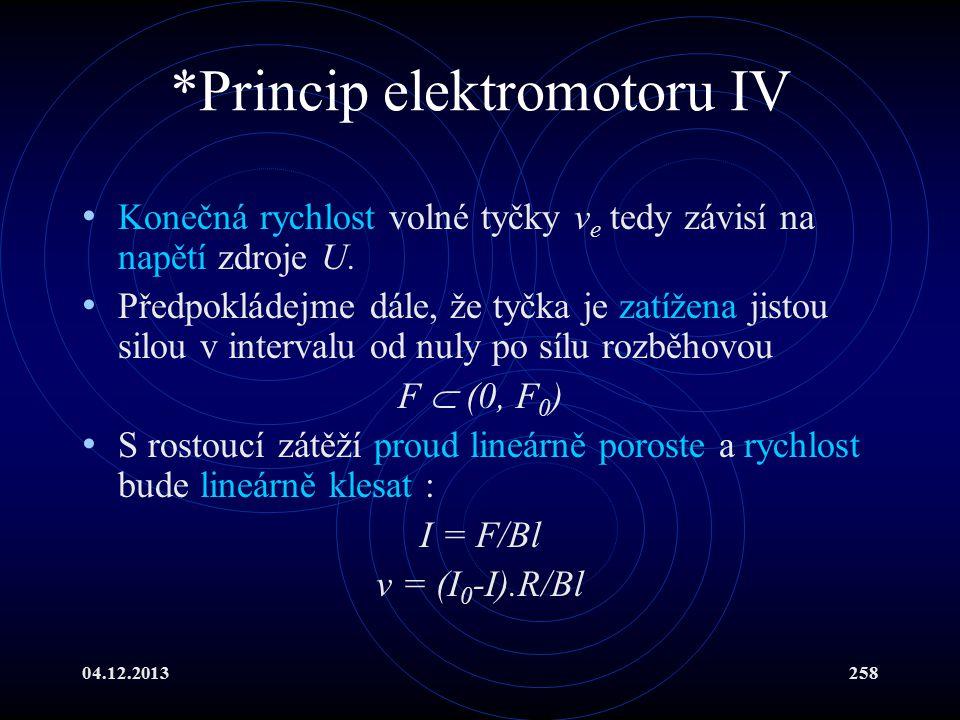 *Princip elektromotoru IV