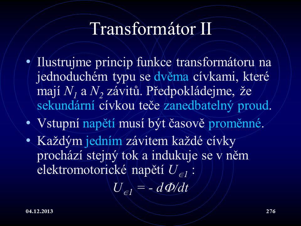 Transformátor II