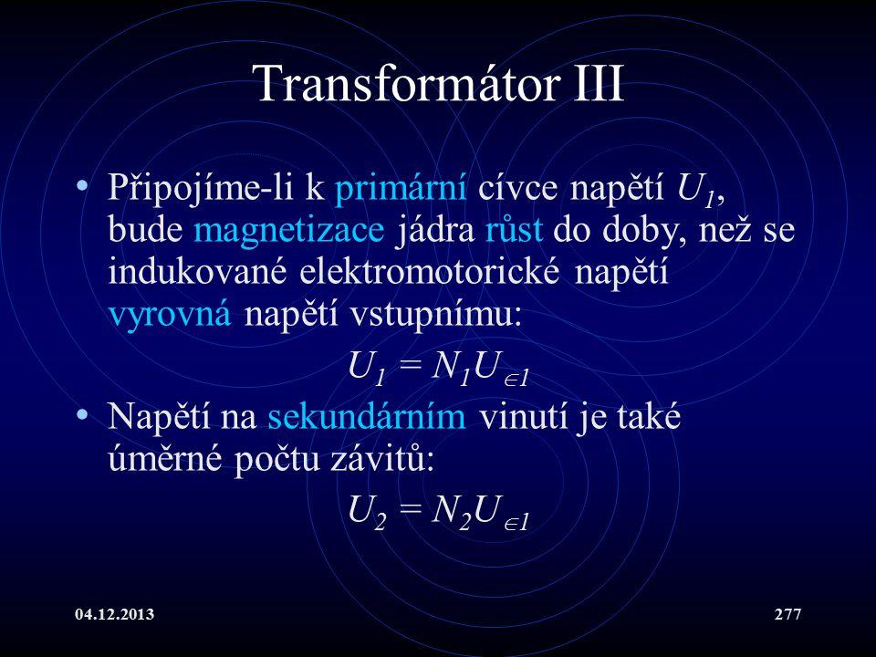 Transformátor III