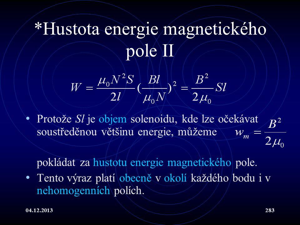 *Hustota energie magnetického pole II
