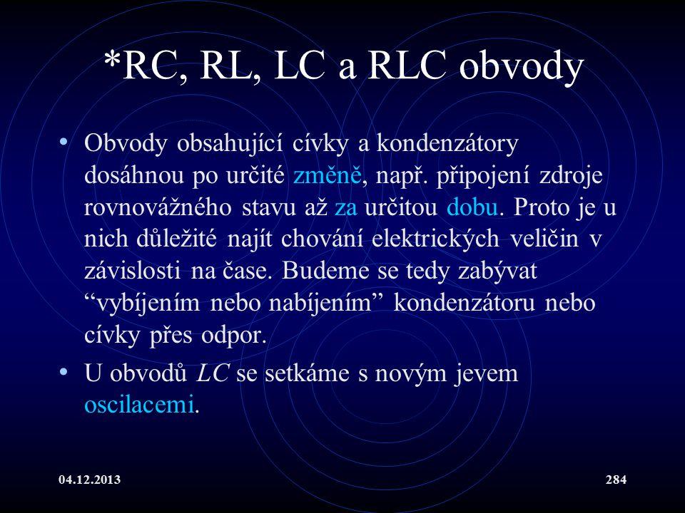 *RC, RL, LC a RLC obvody