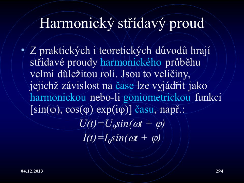 Harmonický střídavý proud