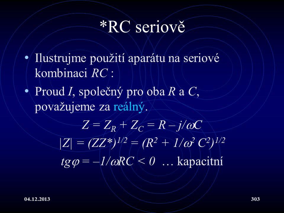 tg = –1/RC < 0 … kapacitní
