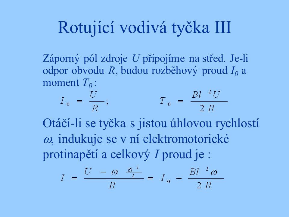 Rotující vodivá tyčka III