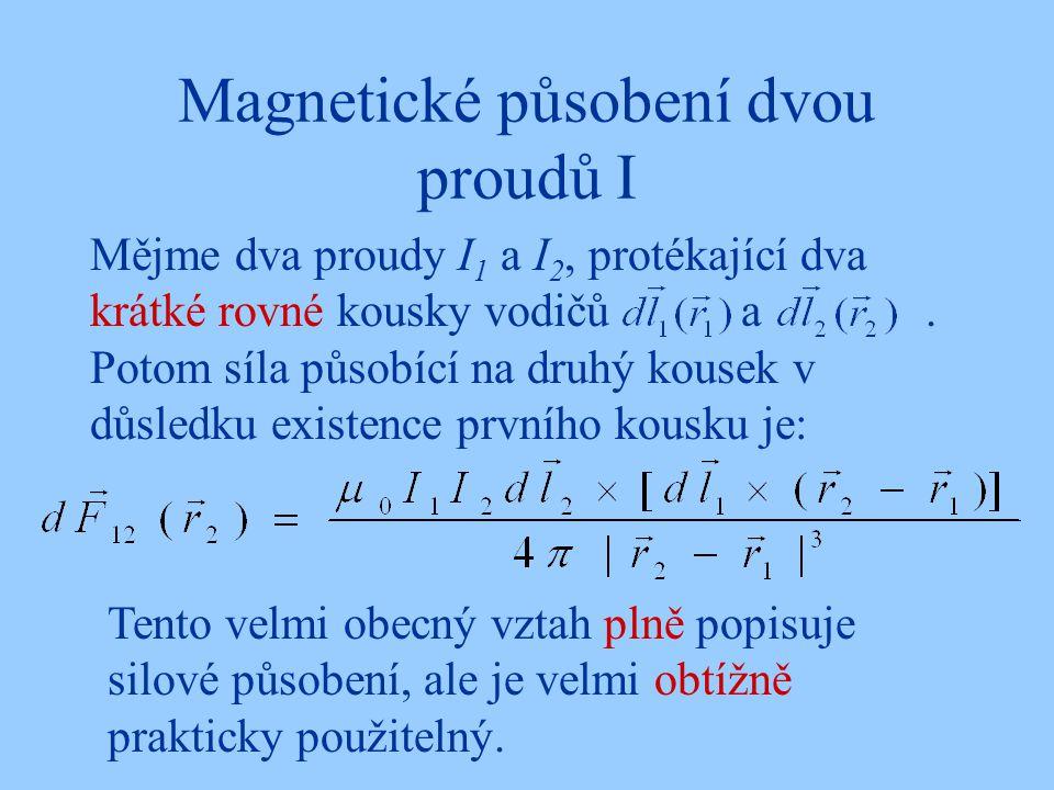 Magnetické působení dvou proudů I
