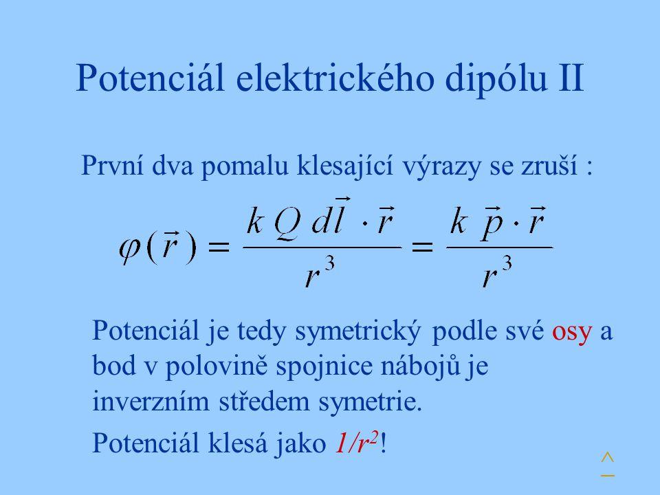 Potenciál elektrického dipólu II
