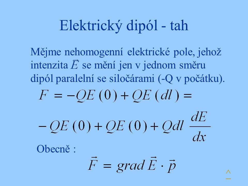 Elektrický dipól - tah