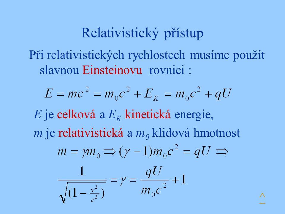 Relativistický přístup