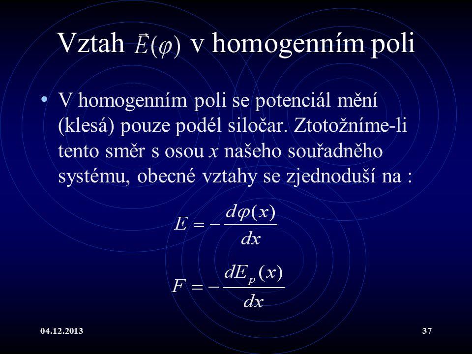 Vztah v homogenním poli