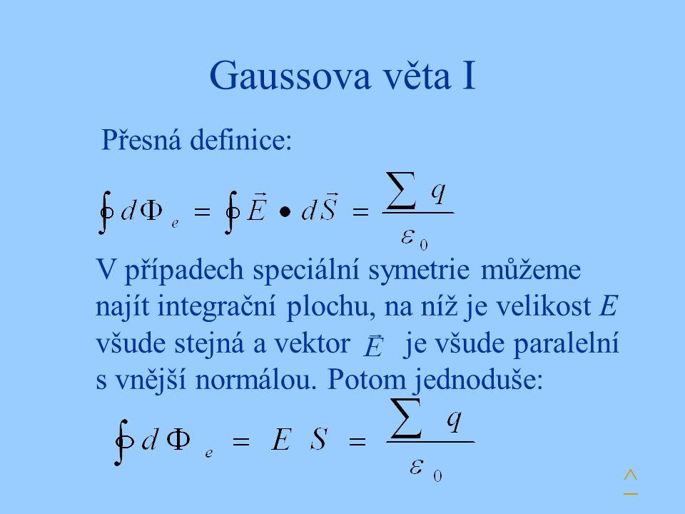 Gaussova věta I Přesná definice: