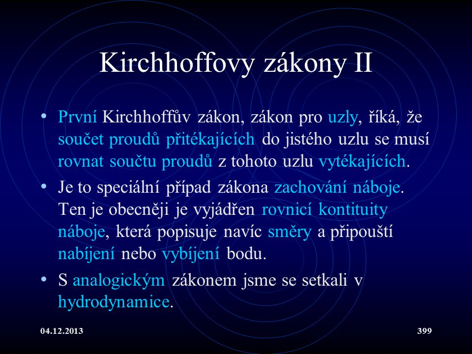 Kirchhoffovy zákony II