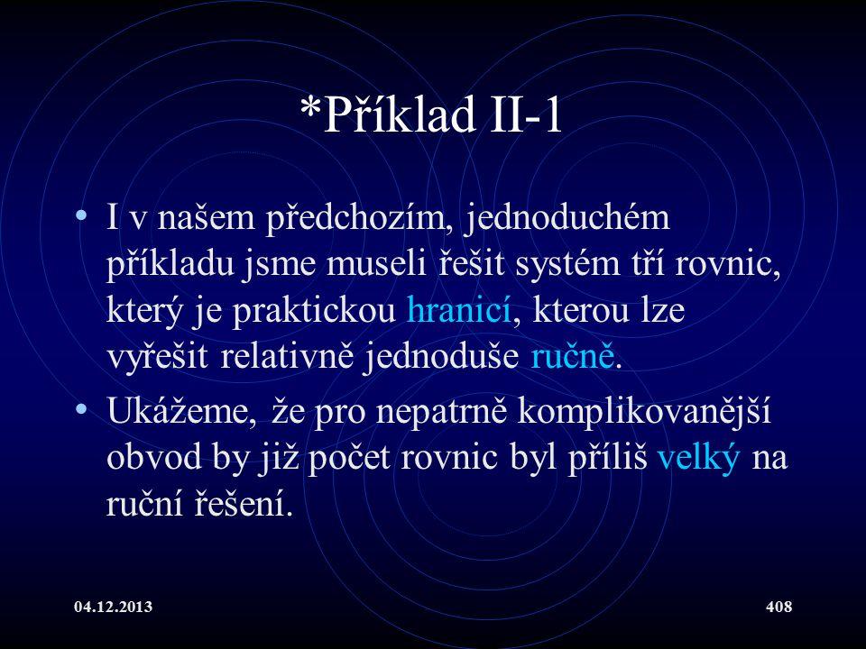 *Příklad II-1