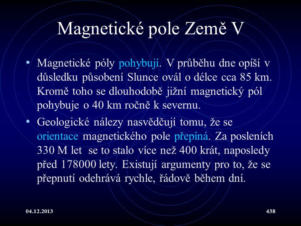 Magnetické pole Země V