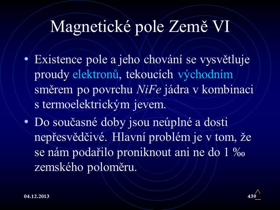 Magnetické pole Země VI