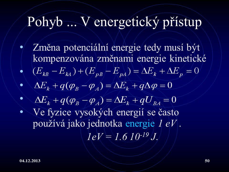 Pohyb ... V energetický přístup