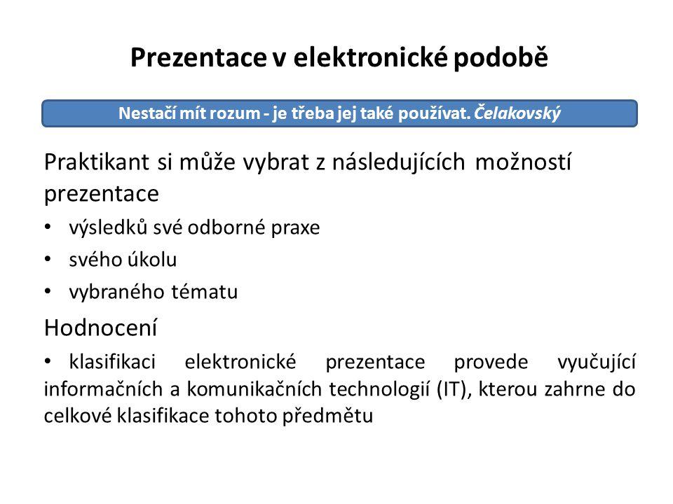 Prezentace v elektronické podobě