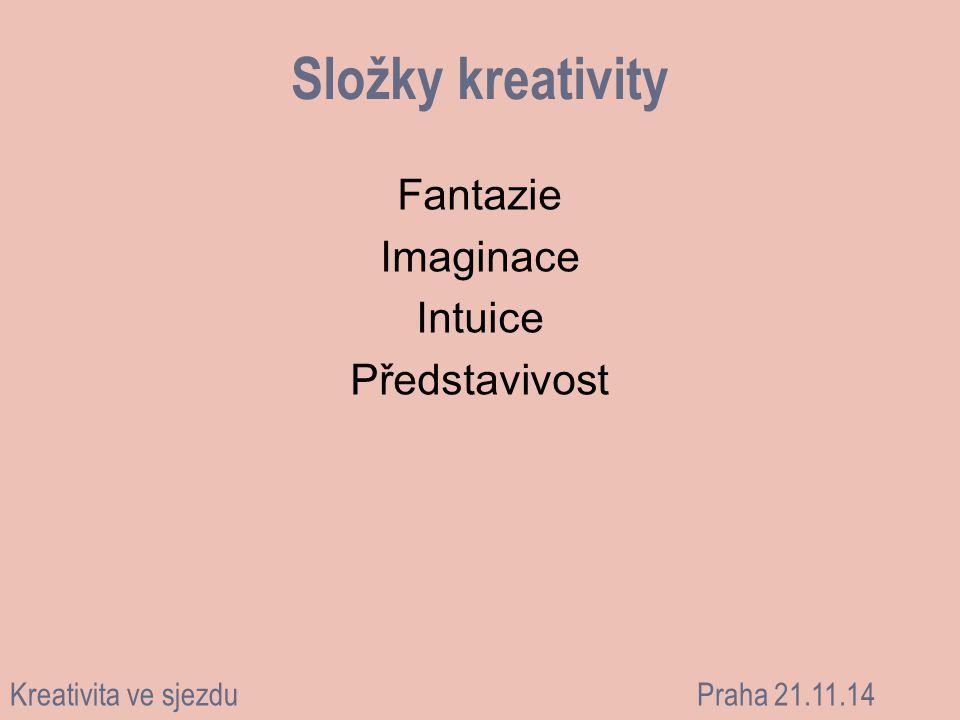 Fantazie Imaginace Intuice Představivost