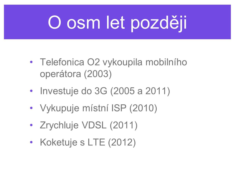 O osm let později Telefonica O2 vykoupila mobilního operátora (2003)
