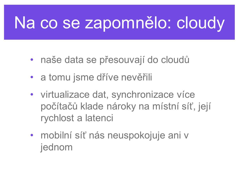 Na co se zapomnělo: cloudy