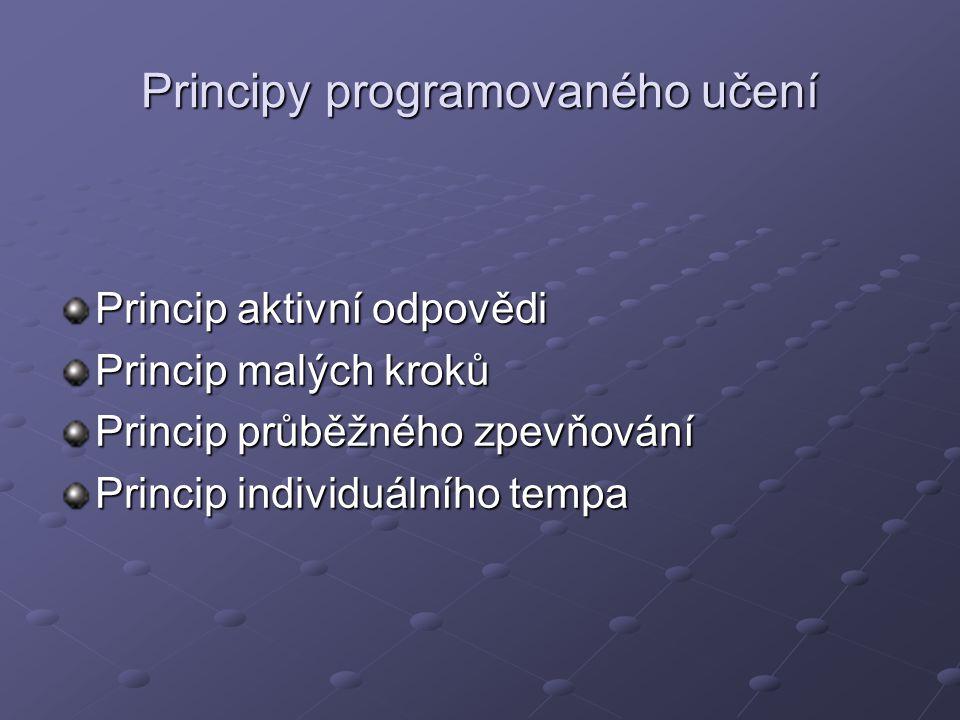 Principy programovaného učení