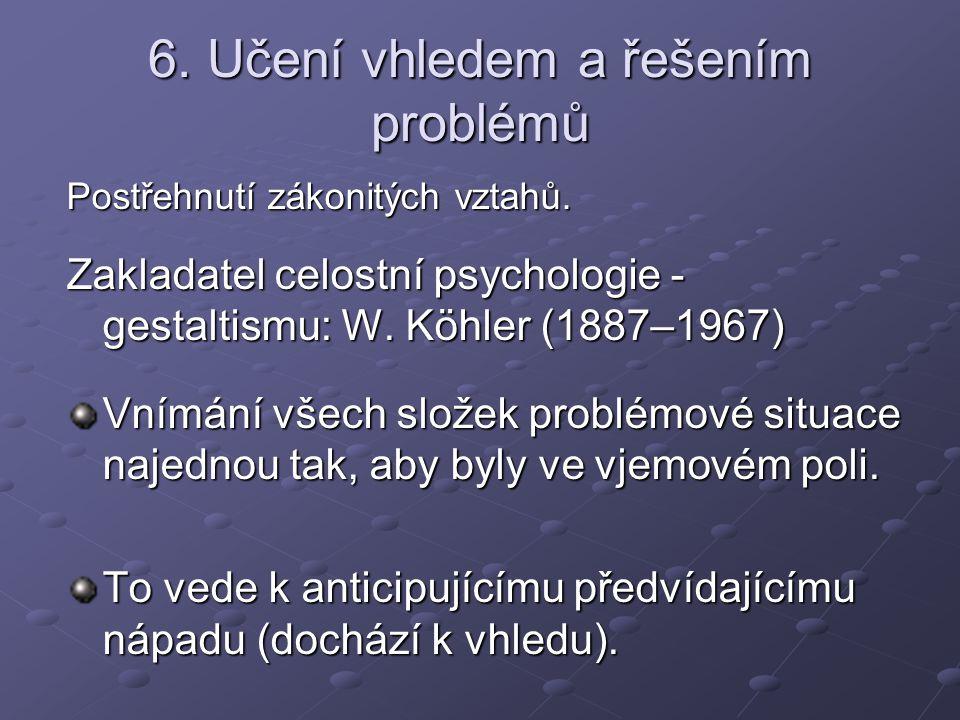 6. Učení vhledem a řešením problémů