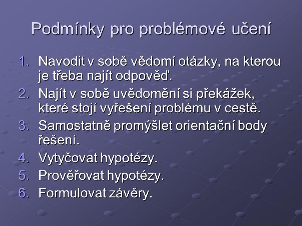 Podmínky pro problémové učení