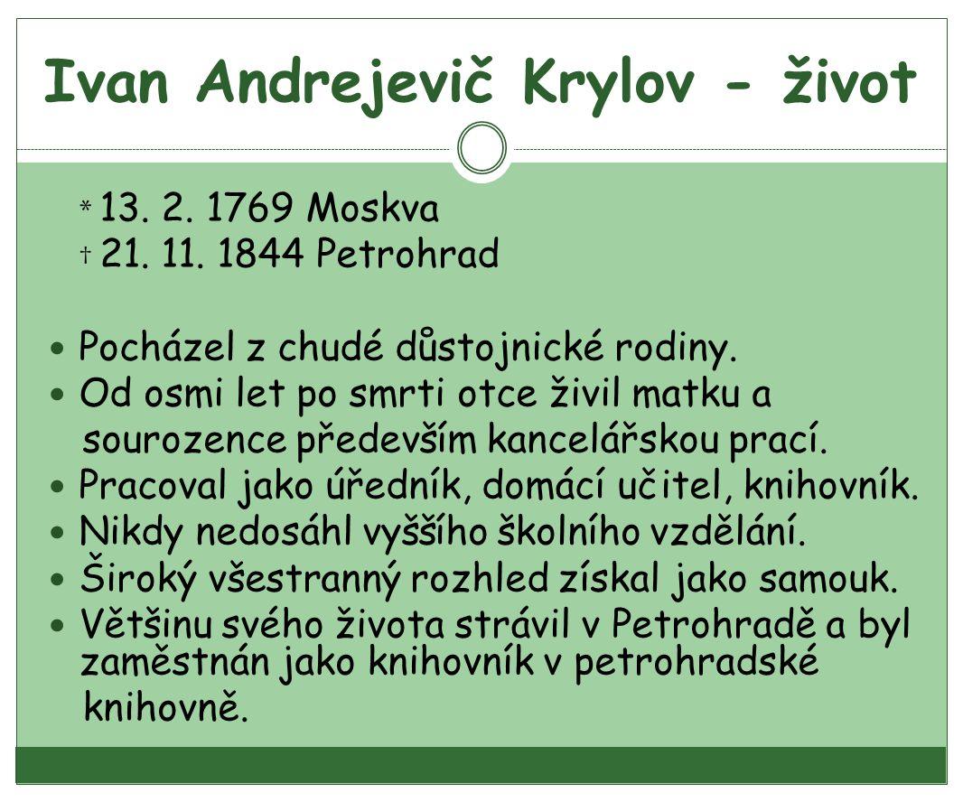 Ivan Andrejevič Krylov - život