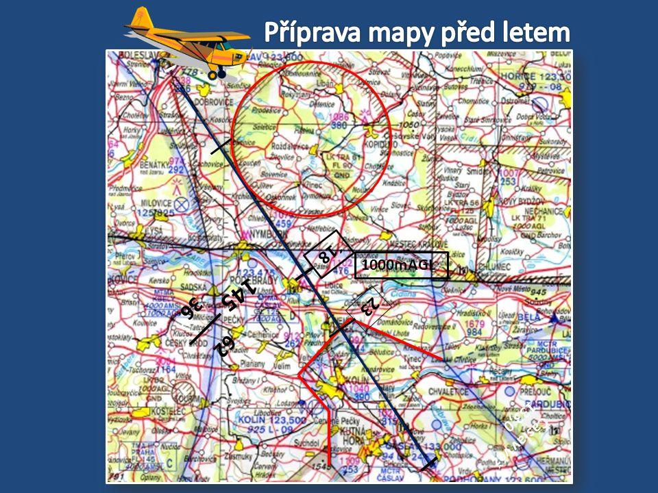 Příprava mapy před letem