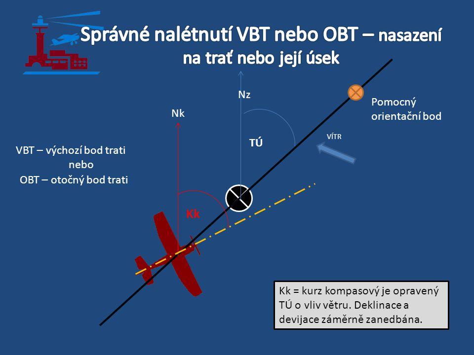 Správné nalétnutí VBT nebo OBT – nasazení na trať nebo její úsek