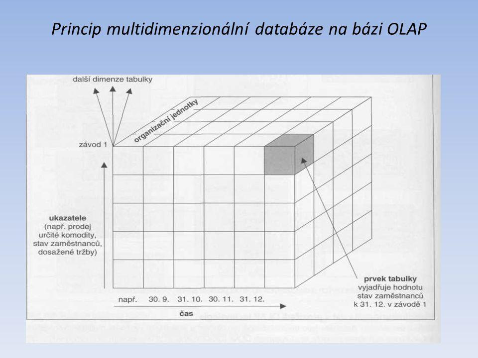 Princip multidimenzionální databáze na bázi OLAP