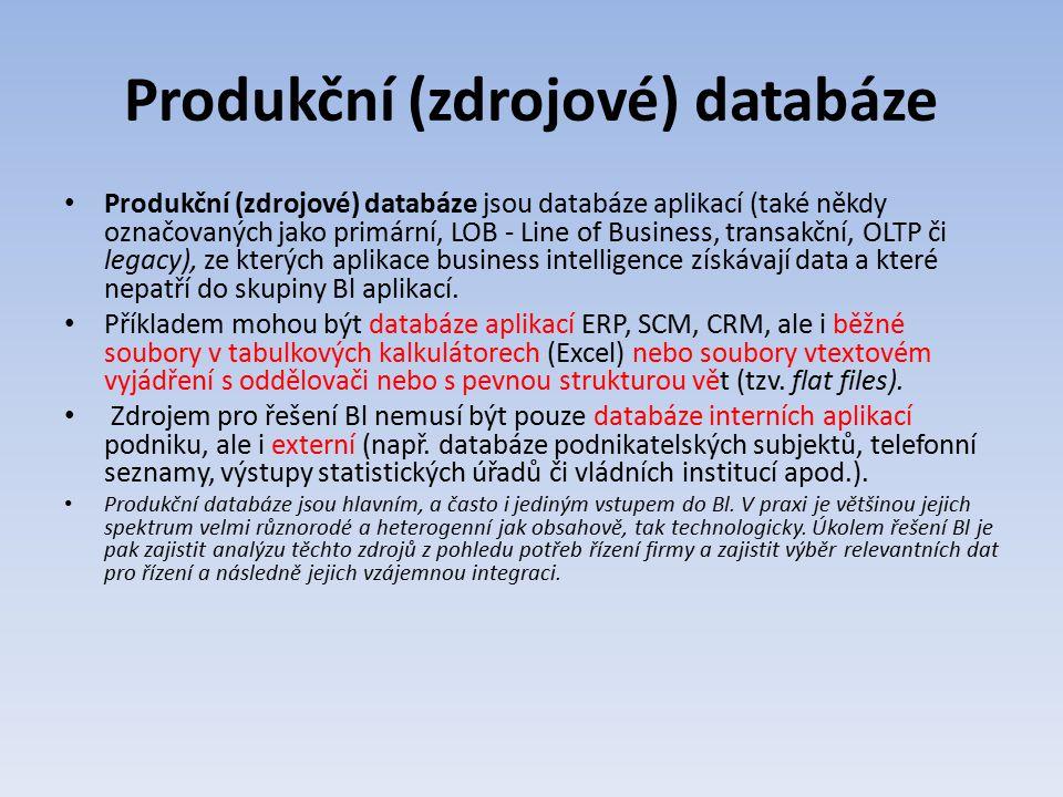 Produkční (zdrojové) databáze