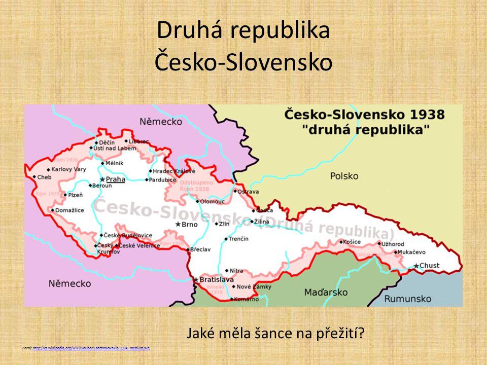 Druhá republika Česko-Slovensko