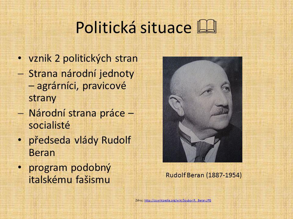 Politická situace  vznik 2 politických stran