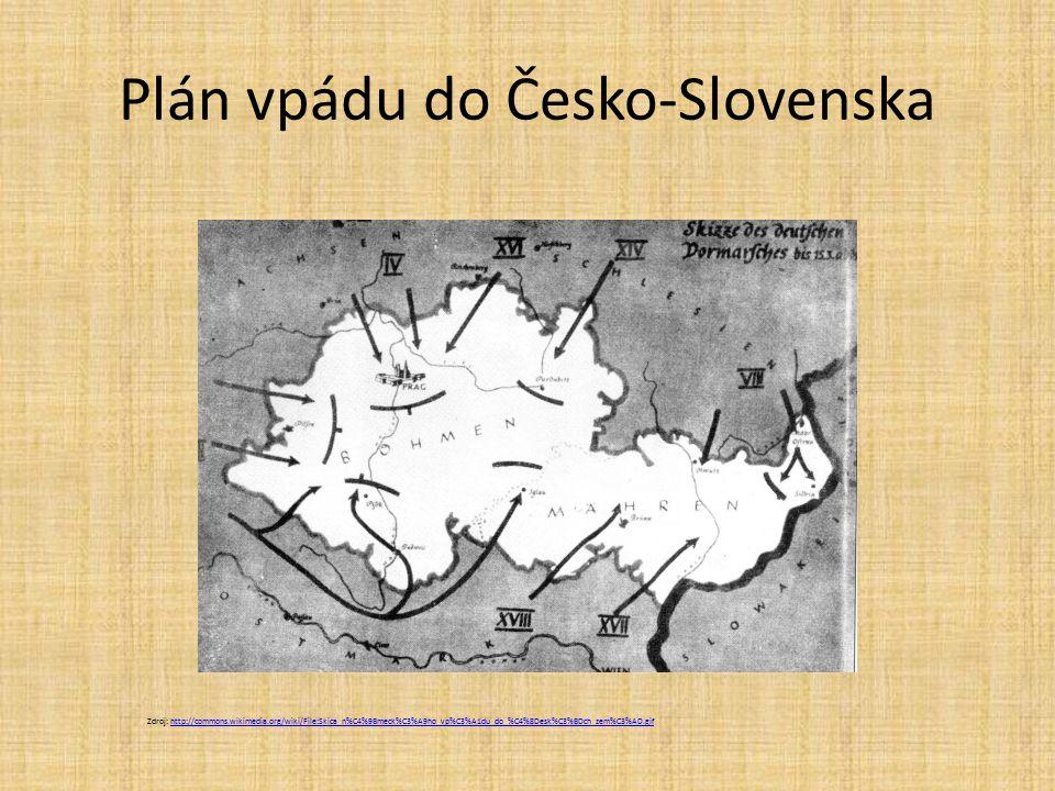 Plán vpádu do Česko-Slovenska