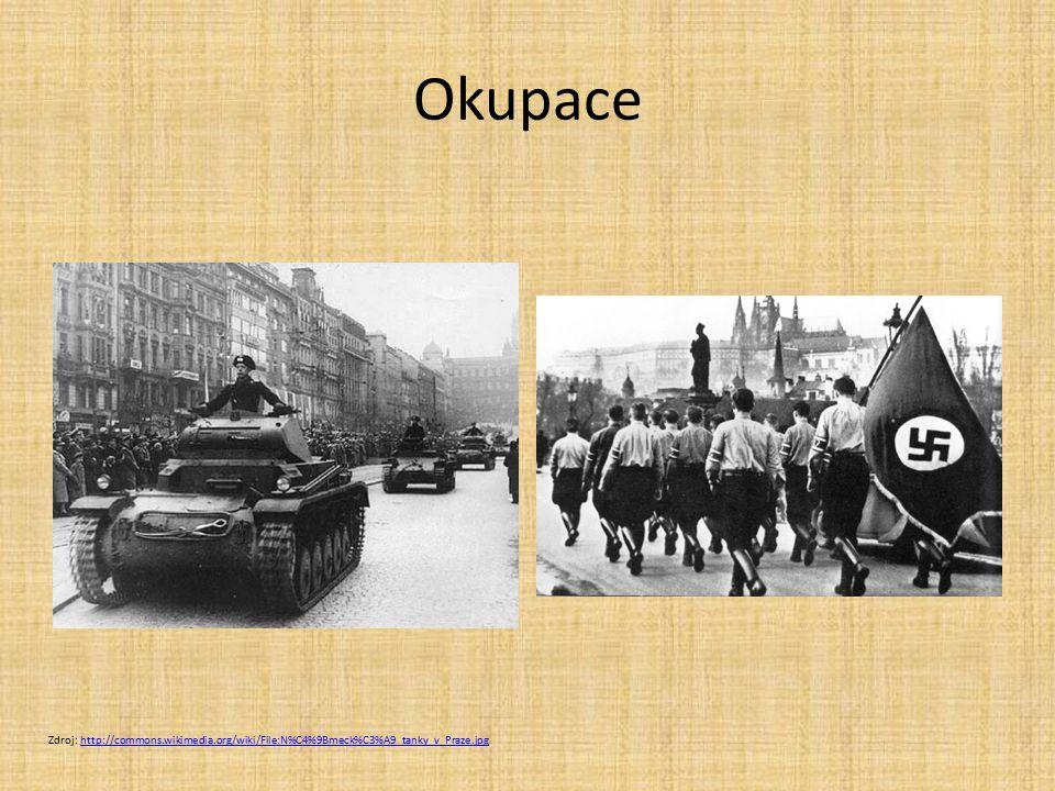 Okupace Zdroj: http://commons.wikimedia.org/wiki/File:N%C4%9Bmeck%C3%A9_tanky_v_Praze.jpg