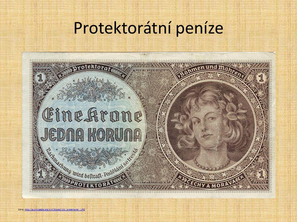 Protektorátní peníze Zdroj: http://cs.wikipedia.org/wiki/Soubor:1kc_protektorat_l.JPG