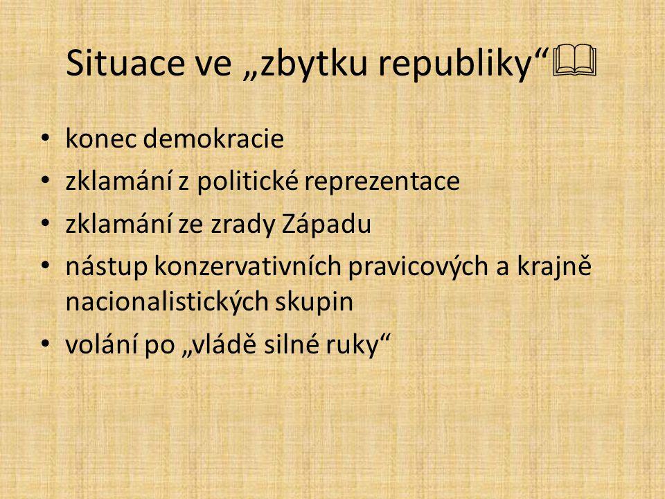 """Situace ve """"zbytku republiky """