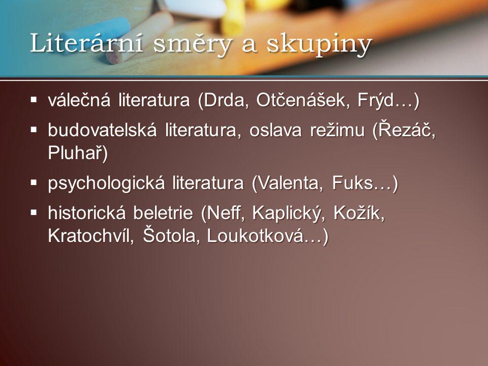 Literární směry a skupiny