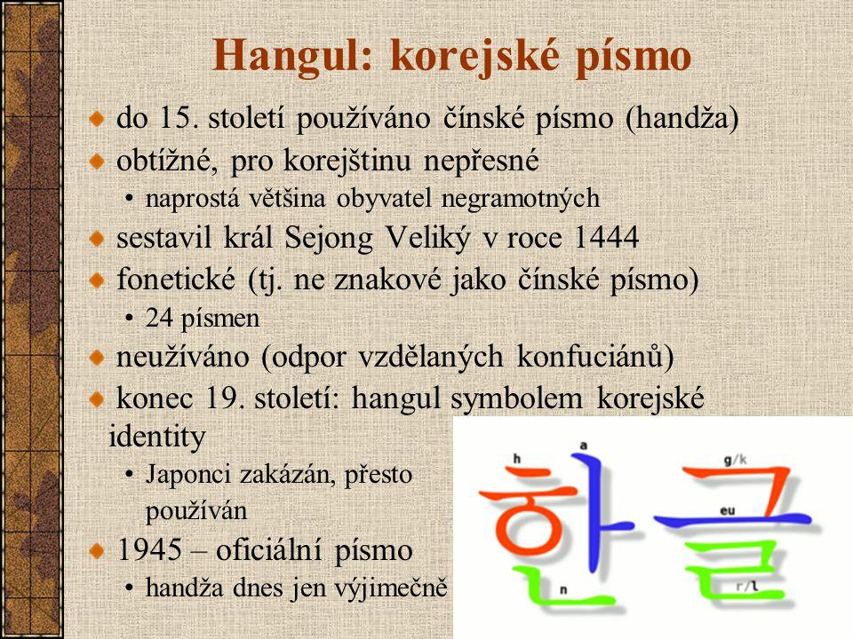Hangul: korejské písmo