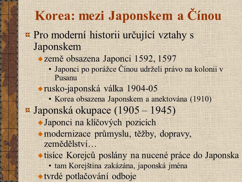 Korea: mezi Japonskem a Čínou