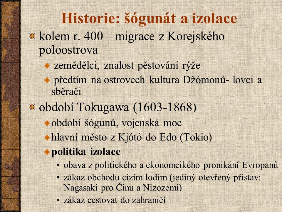 Historie: šógunát a izolace