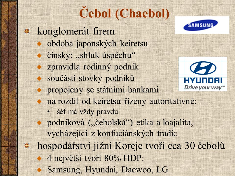 Čebol (Chaebol) konglomerát firem