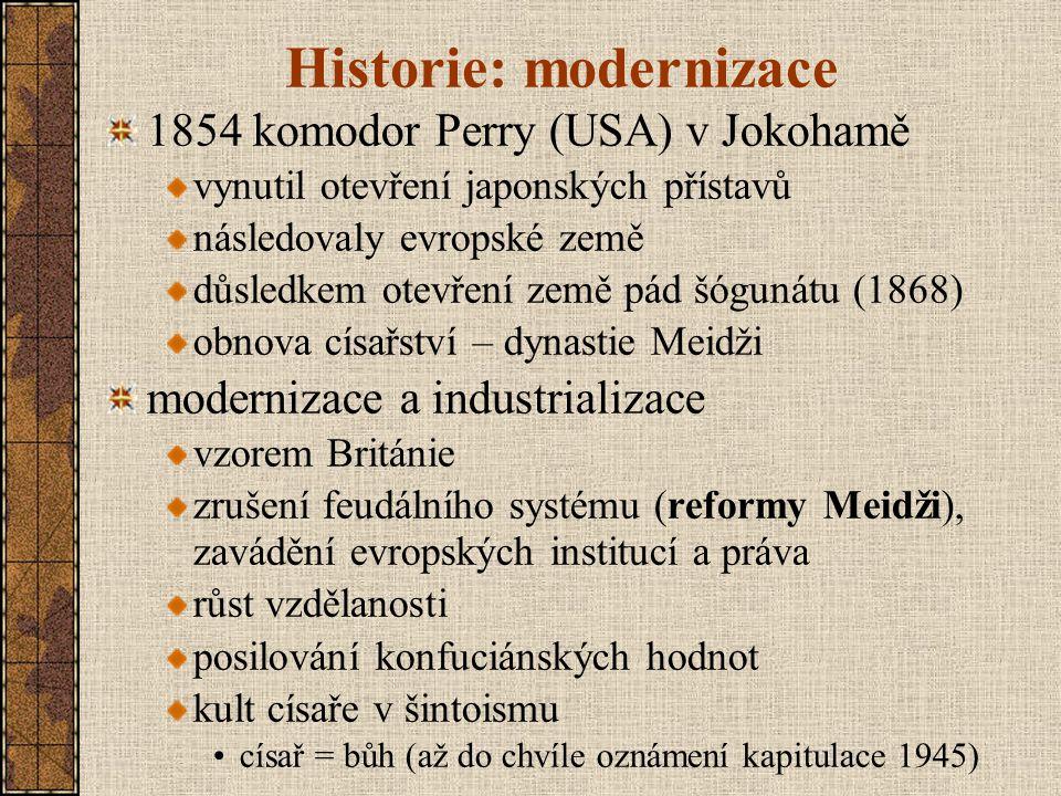 Historie: modernizace