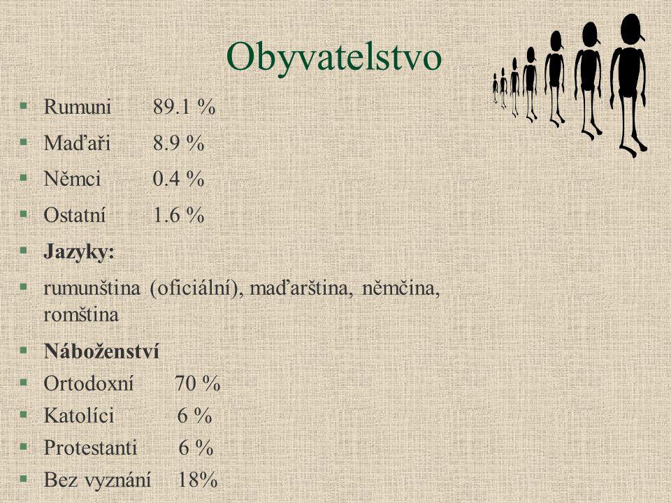 Obyvatelstvo Rumuni 89.1 % Maďaři 8.9 % Němci 0.4 % Ostatní 1.6 %