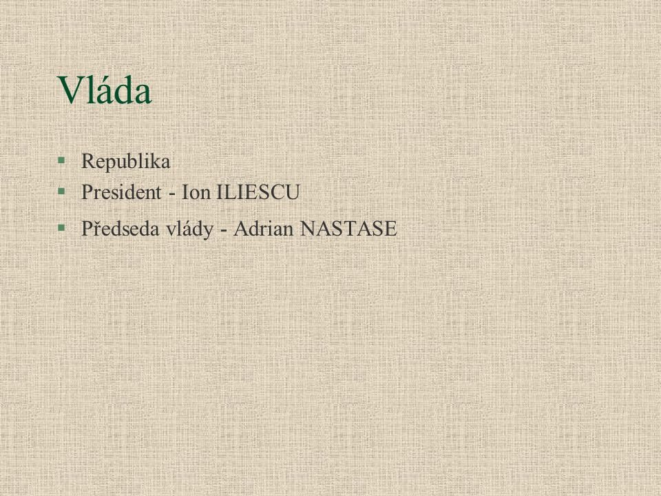 Vláda Republika President - Ion ILIESCU