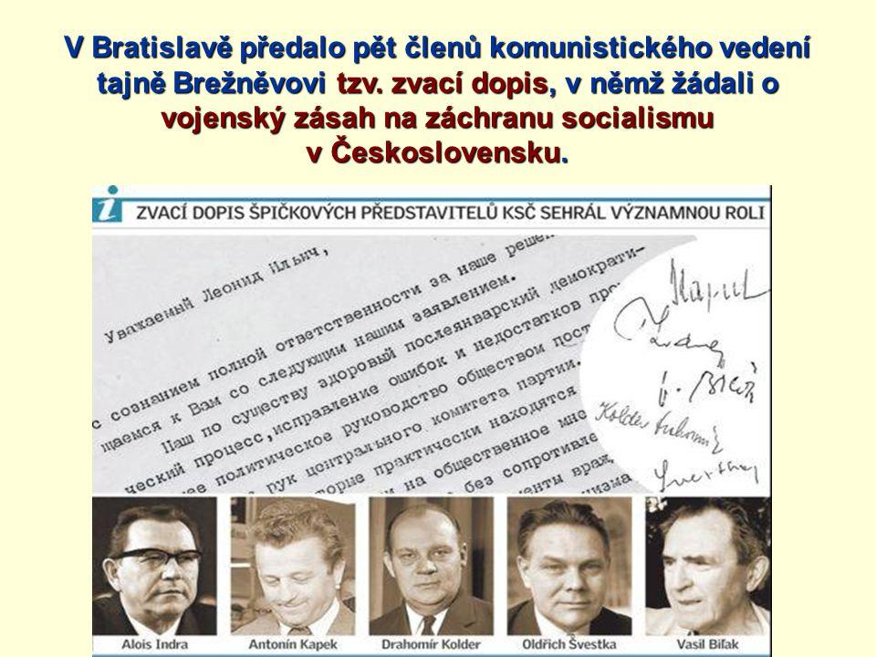 vojenský zásah na záchranu socialismu v Československu.