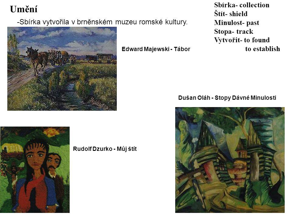 Umění Sbírka- collection Štít- shield Minulost- past Stopa- track