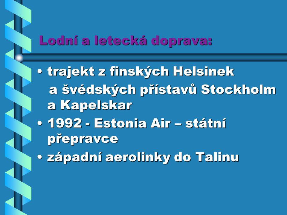 Lodní a letecká doprava: